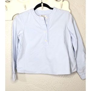 Madewell Cropped chambray Top XS